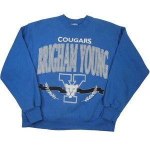 Vintage BYU Brigham Young University Sweatshirt